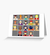 Select Your Character - Street Fighter Alpha 2 Greeting Card