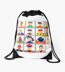 Select Your Character - Street Fighter Alpha 2 Drawstring Bag