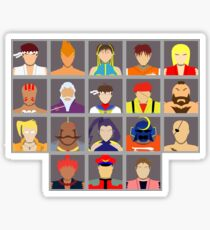 Select Your Character - Street Fighter Alpha 2 Sticker
