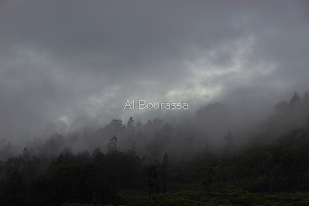 Morning Fog On The Andes by Al Bourassa