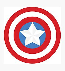 The Captain Shield Photographic Print