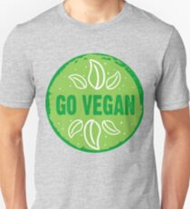 Go Vegan, green circle Unisex T-Shirt