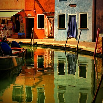 Burano Reflections by lenzart