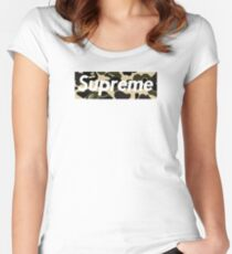 sup camo Women's Fitted Scoop T-Shirt