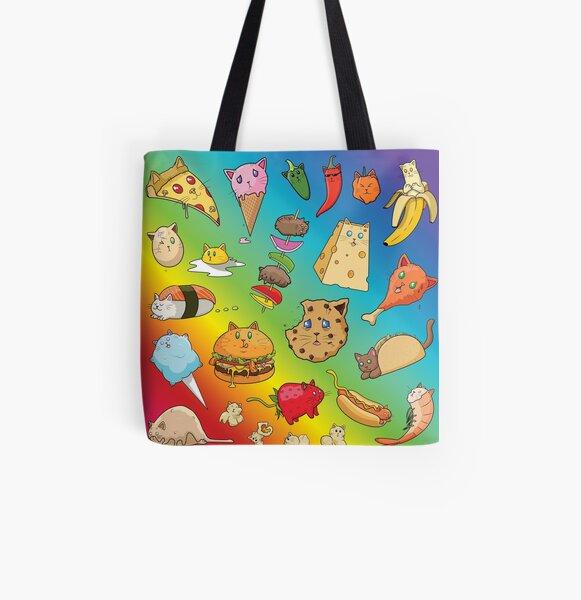 Cat Food All Over Print Tote Bag