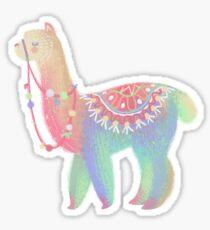 Colorful Alpaca Sticker