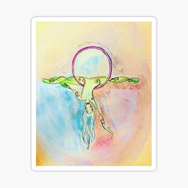 Lyra Dancer Watercolor Sticker