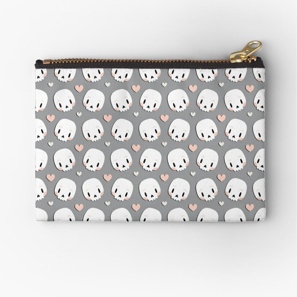 Skulls in love Zipper Pouch