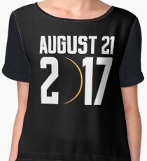 USA Total Solar Eclipse 2017 august Chiffon Top