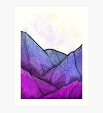 Early Morning Mountains Art Print