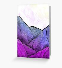 Early Morning Mountains Greeting Card