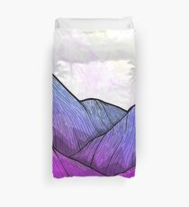 Early Morning Mountains Duvet Cover