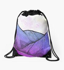Early Morning Mountains Drawstring Bag