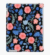 Floral Pattern Dark Background iPad Case/Skin
