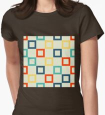 Square Geometric Womens Fitted T-Shirt
