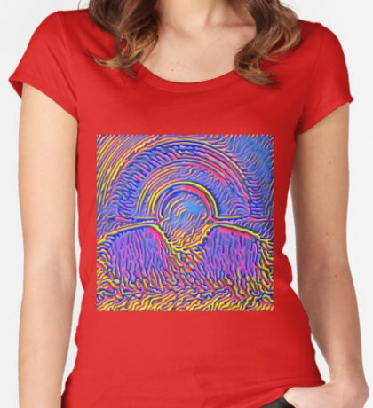 Sunset Fitted Scoop T-Shirt