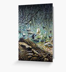 Swans, Ducks and Signets on the River Severn Greeting Card