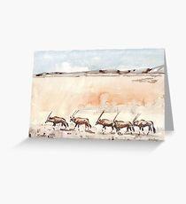 Gemsbuck in the Kalahari Greeting Card