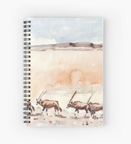 Gemsbuck in the Kalahari Spiral Notebook