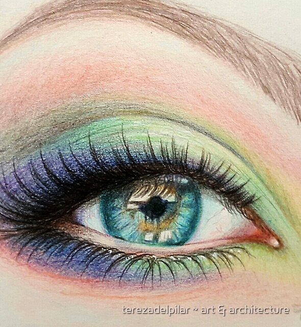 eye color pencil by terezadelpilar ~ art & architecture