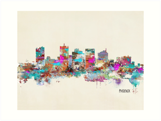 Phoenix Arizona skyline by bri-b