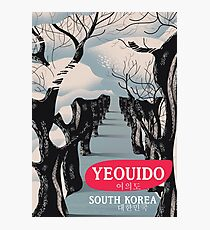 Yeouido South Korea travel poster Photographic Print
