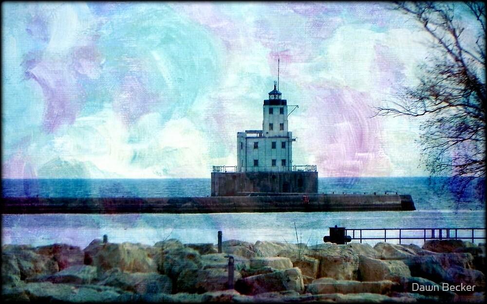 Lake Michigan Lighthouse © by Dawn Becker