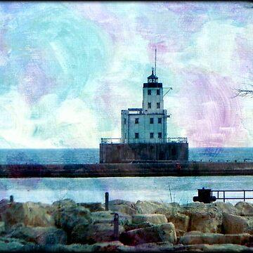 Lake Michigan Lighthouse © by Eastsider