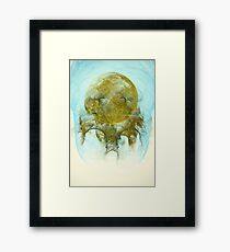 Sleepy Moon Nebula Framed Print