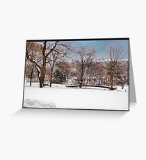 Winter At Weyhill Greeting Card