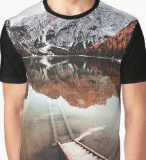 braies lake in trentino - italy Graphic T-Shirt