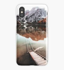 braies lake in trentino - italy iPhone Case/Skin
