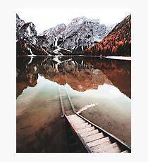 braies lake in trentino - italy Photographic Print