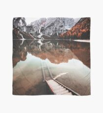 braies lake in trentino - italy Scarf