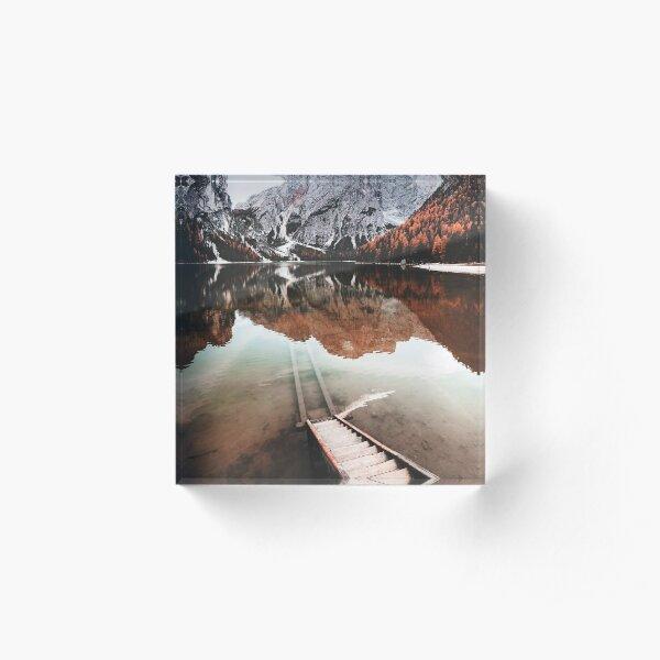 braies lake in trentino - italy Acrylic Block