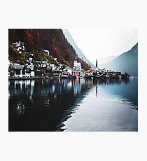 hallstatt village in austria Photographic Print