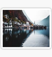 hallstatt village in austria Sticker