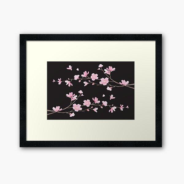 Cherry Blossom - Black Framed Art Print