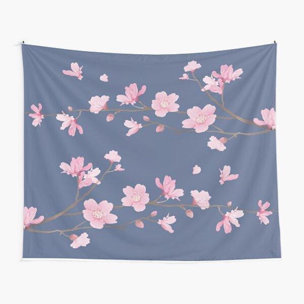 Cherry Blossom - Denim Tapestry