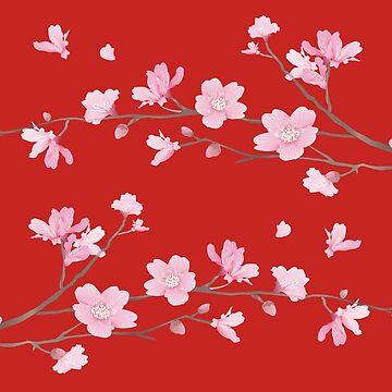 Cherry Blossom - Red by designenrich