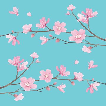 Cherry Blossom - Robin Egg Blue by designenrich