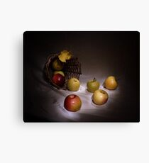 The apples basket Canvas Print