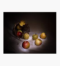 The apples basket Photographic Print