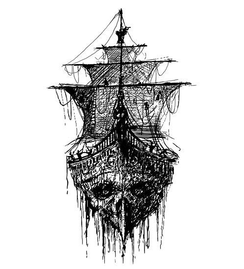 tatouage de cr ne de bateau de pirate posters par vicdesign redbubble. Black Bedroom Furniture Sets. Home Design Ideas