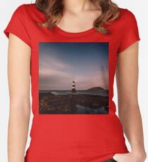 Evening Lighthouse Women's Fitted Scoop T-Shirt