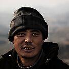 Sherpa on the great wall by Matthew Bonnington