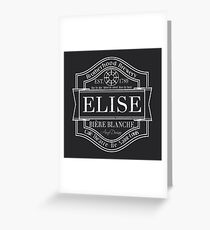 Assassin's Creed, Elise beer label Greeting Card