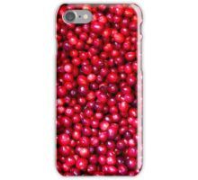 Cranberry Harvest - Fall Autumn Season - Plentiful Red Berries iPhone Case/Skin
