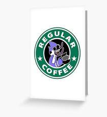 Regular Mordecai Coffee Greeting Card