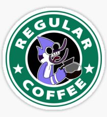 Regular Mordecai Coffee Sticker